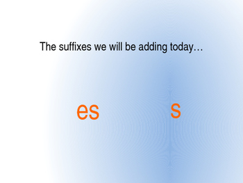 Suffixes- adding -s and -es