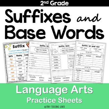 Suffixes and Base Words No Prep Printables