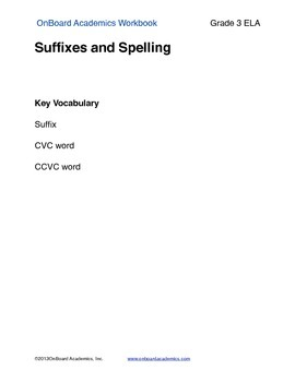 Suffixes and Spelling