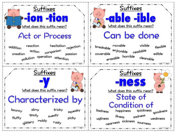 Suffixes and their meanings