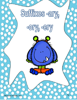 Suffixes -ary, -ery, -ory