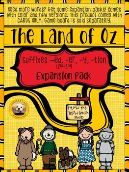 Suffixes -ed, -er, -y, -tion EXPANSION PACK for The Land of Oz Sight Word Game