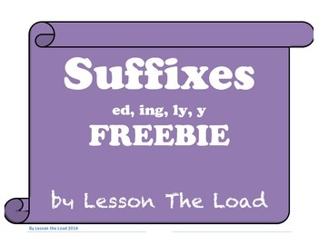 Suffixes ed, ing, ly, y