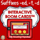 Suffixes, -ed, -t, -d, Boom Cards™, Decoding, Spelling, Phonics