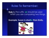 Suffixes: -er and –est--Change Y to I