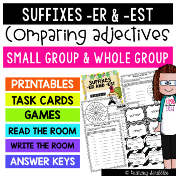 Suffixes -er and -est (Comparing Adjectives) Printables, T