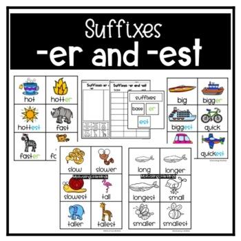 Suffixes er and est Comparison Sort