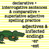 Suffixes -er -est - Inflected Endings - Adjectives - 2nd Grade Spelling