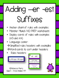 Suffixes -er -est -  Language Center - NO PREP - Resources & Worksheets!