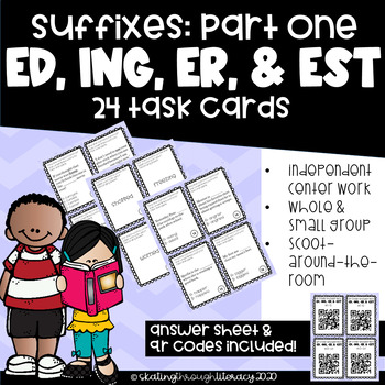 Suffixes (er, est, ed, ing) Task Cards