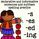 Suffixes - es, s, ed, ing - Inflected Endings 2nd Grade Spelling