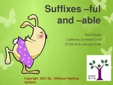 Suffixes -ful and -able