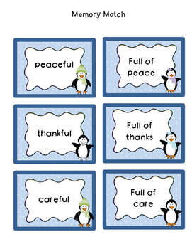 Suffixes -ful and -less (Winter Theme)