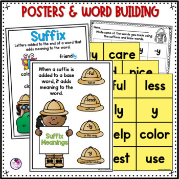 Suffixes -ful, -less, -ly, -y