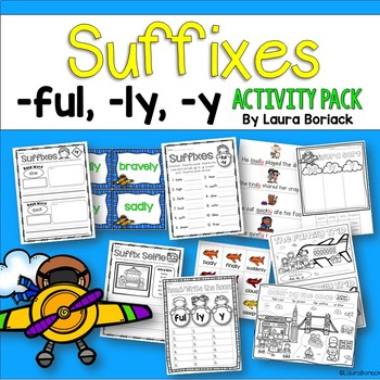 Suffixes ful, ly, y Activity Pack