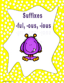 Suffixes ful, ous, ious