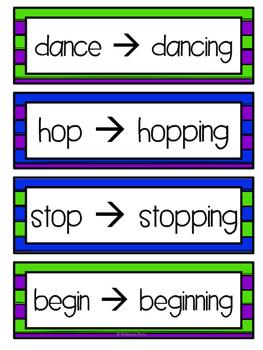 Suffixes -ing -  Language Center - NO PREP - Resources & Worksheets!