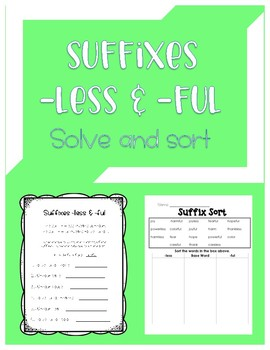 Suffixes -less and -ful