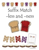 Suffixes -less and -ness Peanut Butter & Jelly