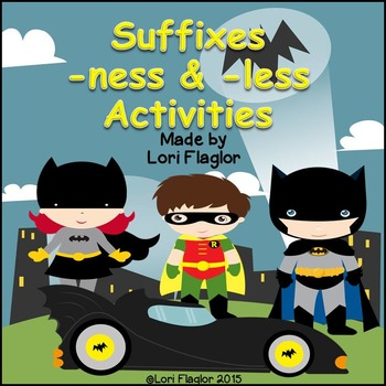 Suffixes -less & -ness Word Study Activities