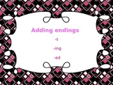 Suffixes -s, -ed, -ing