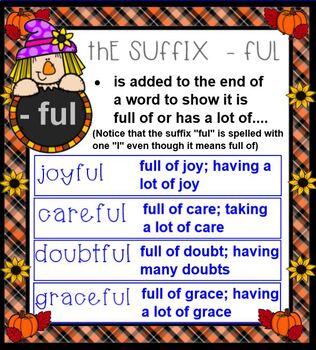 Suffixes:-s, -es, -ing, -ed  Pumpkin theme
