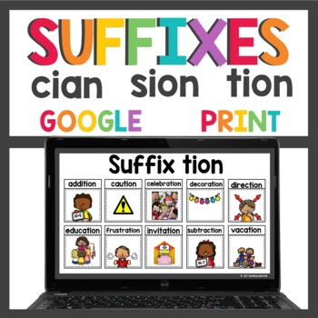 Suffixes tion- sion and cian
