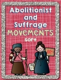 Suffrage & Abolitionist Movement Sorting Activity