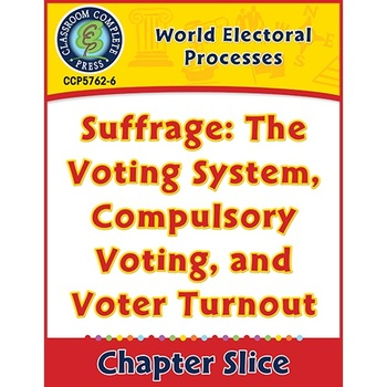 Suffrage: The Voting System, Compulsory Voting, and Voter Turnout Gr. 5-8