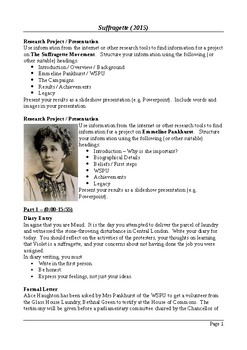 Suffragette (2015) - Writing and Research Extension Assignments