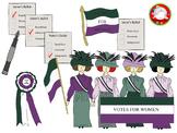 Suffragette Clipart BUNDLE (Personal & Commercial Use)