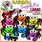 Rainbow SugahPie Crabs - KGJ Clipart