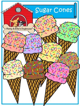 Sugar Cones *Penny & Ellie's Doghouse Clipart*