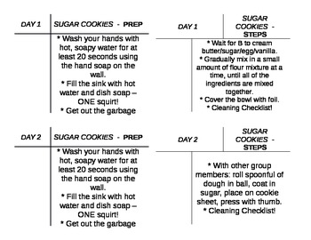 Sugar Cookie Foods Lab Task Cards