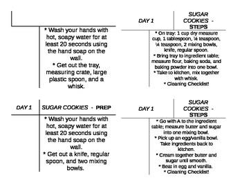 Sugar Cookie Foods Lab Task Cards