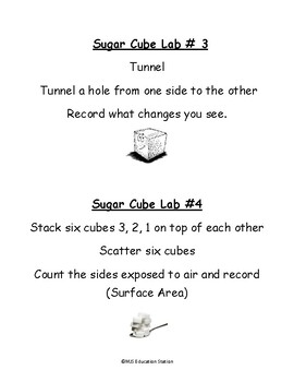 Sugar Cube Weathering Physical Vs. Chemical
