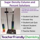 Chemistry Lab: Sugar Density Column and Percent Solutions