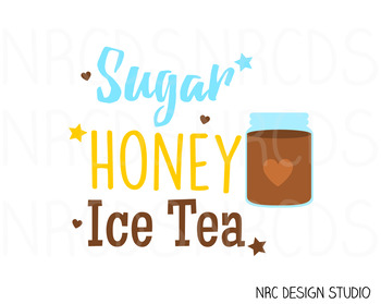 Sugar Honey Ice Tea SVG Cutting File - Commercial Use SVG, DXF, EPS, png