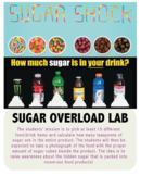 Sugar Overload -An activity that explores the amount of sugar in food (Editable)