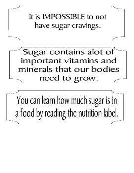 Sugar Shock Lesson Printable Cards