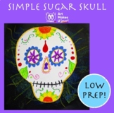 Sugar Skull Art Project Easy and Simple Oil Pastels