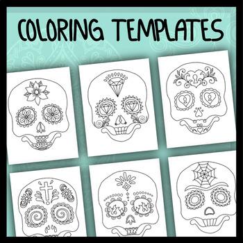 Sugar Skull Boy - Coloring Templates