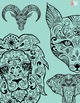 Sugar Skull Color Fun #2 – Animals {Coloring Book}