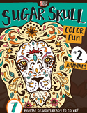 Sugar Skull Color Fun #2 – Animals {Coloring Book}