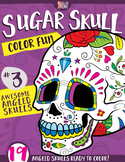 Sugar Skull Color Fun #3 – Awesome Angled Skulls {Coloring Book}