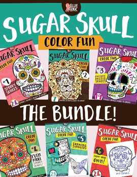 Sugar Skull Color Fun Coloring Books {THE BUNDLE} by Glue and Ink