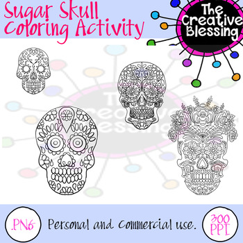 Sugar Skull Coloring Activity Pages