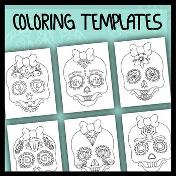 Sugar Skull Girl - Coloring Templates
