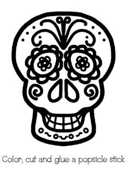Sugar Skull Mask/ Máscaras de calaveras de azúcar