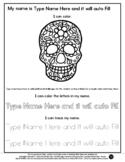 Sugar Skull - Name Tracing & Coloring Editable Sheet - #60